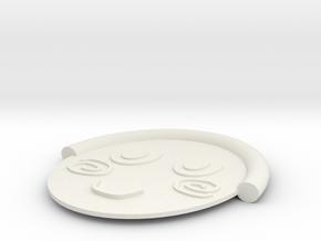 忍者 in White Natural Versatile Plastic
