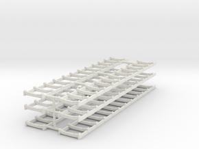 1/64th Set of six conveyor racks in White Natural Versatile Plastic