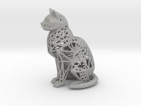 Wireframe Cat in Aluminum