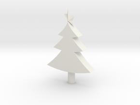 merry chrismas tree in White Natural Versatile Plastic: Medium