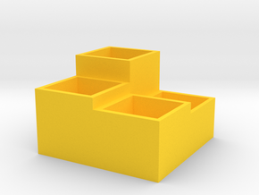 Storage Box in Yellow Processed Versatile Plastic