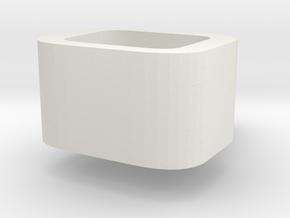 Mug in White Natural Versatile Plastic: Small