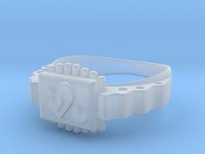 LOVE RING in Smoothest Fine Detail Plastic: Medium