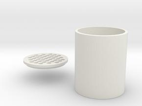 Multifunctional Bottle in White Natural Versatile Plastic