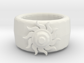 Sun ring in White Natural Versatile Plastic