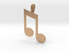 Beamed Eighth Note Sign Pendant in Natural Bronze (Interlocking Parts)