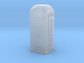 O Scale Telephone Booth in Smooth Fine Detail Plastic