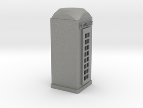 O Scale Telephone Booth in Gray PA12