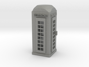 S Scale Telephone Booth in Gray PA12