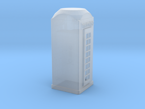 HO Scale Telephone Booth in Smooth Fine Detail Plastic