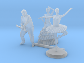 HO Scale Guitar Player & Dancers in Smooth Fine Detail Plastic