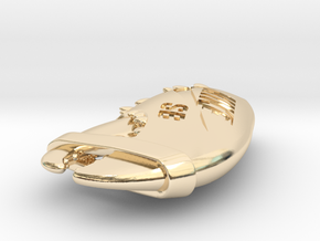 Lobster Claw Pendant - With Band in 14k Gold Plated Brass