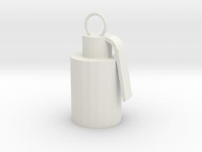 Smoke bomb charm in White Natural Versatile Plastic: Small