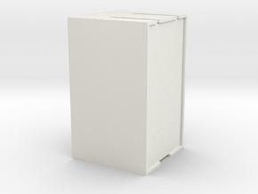 插頭收納盒 in White Natural Versatile Plastic