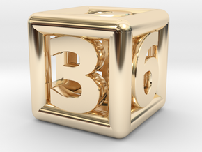 game dice ok in 14k Gold Plated Brass: Medium