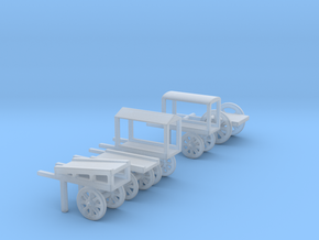 hand cart set  in Smooth Fine Detail Plastic