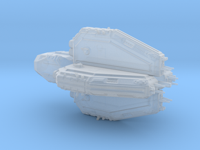 Sci fi destroyer Marucan Class in Smooth Fine Detail Plastic