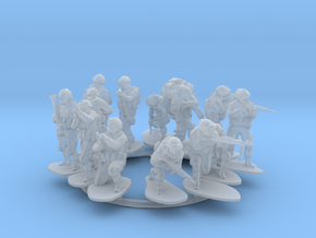 1:72 Soldiers Combat Group I (Poses 1 to 13) with  in Smooth Fine Detail Plastic