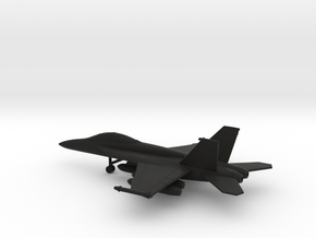 Boeing F/A-18F (with wing tanks) in Black Natural Versatile Plastic: 1:200