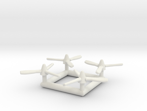 (1:200) x4 Propellers for DHC-5 Buffalo in White Natural Versatile Plastic