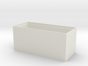 Separate small objects storage box in White Natural Versatile Plastic