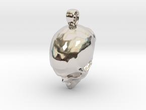 Skull Pendant in Rhodium Plated Brass