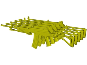 1/15 scale IMI Galil ARM rifles x 5 in Smooth Fine Detail Plastic
