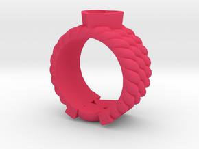 Through Ur Heart Ring  in Pink Processed Versatile Plastic