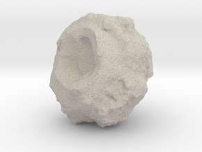Battle-Scarred Asteroid for 2/6mm Space Battles in Natural Sandstone