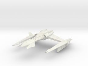 Klingon BarTar Class WarCruiser in White Natural Versatile Plastic
