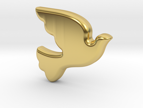 Bird-Dove in Polished Brass