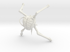 spider demon overlord - tabletop scale in White Natural Versatile Plastic