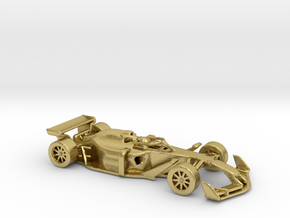 F1 2025 'Simplified' car 1/64 - with driver in Natural Brass