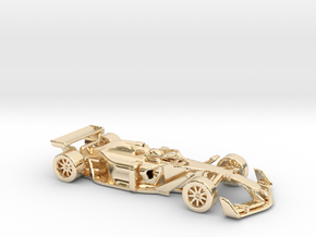 F1 2025 'Simplified' car 1/64 - with driver in 14K Yellow Gold