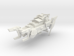 Order of the Shell Space Battleship in White Natural Versatile Plastic