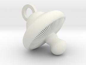 Little Mushroom Pendant in White Natural Versatile Plastic