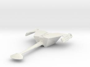 2500 Klingon D-18 class in White Natural Versatile Plastic