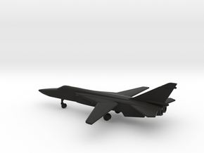 Sukhoi Su-24 Fencer (spread wings) in Black Natural Versatile Plastic: 6mm