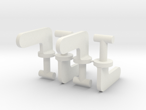 Travel Aire Dog Crate Clips in White Natural Versatile Plastic