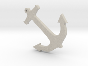 Anchor Nautical Necklace / Pendant-10 in Natural Sandstone