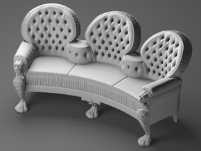 EFX48 Nautilus Settee in Smooth Fine Detail Plastic