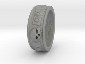 Skull Ring in Gray Professional Plastic