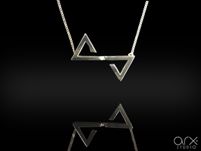 Sutura Pendant in Platinum: Small