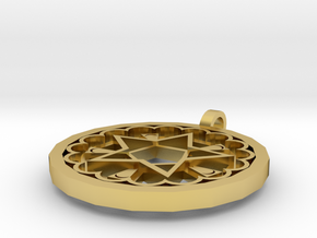 Star in Polished Brass: Small