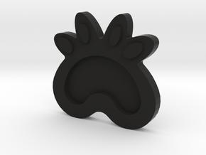 Cat Cup Mat in Black Natural Versatile Plastic: Medium