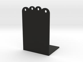 Cat Bookshelf in Black Natural Versatile Plastic: Medium