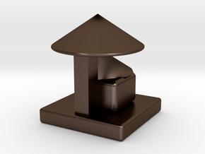 塑膠套及牙籤收納 stl. in Polished Bronze Steel