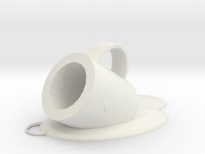 Melted cup pendant in White Natural Versatile Plastic