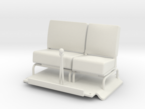 Seats-LHD in White Natural Versatile Plastic