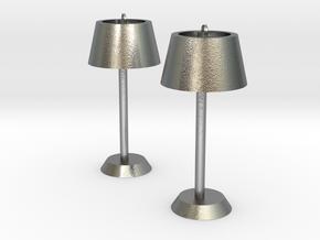 Floor lamp earring in Natural Silver
